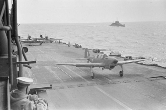 Fairey Fulmar takes off from Ark Royal