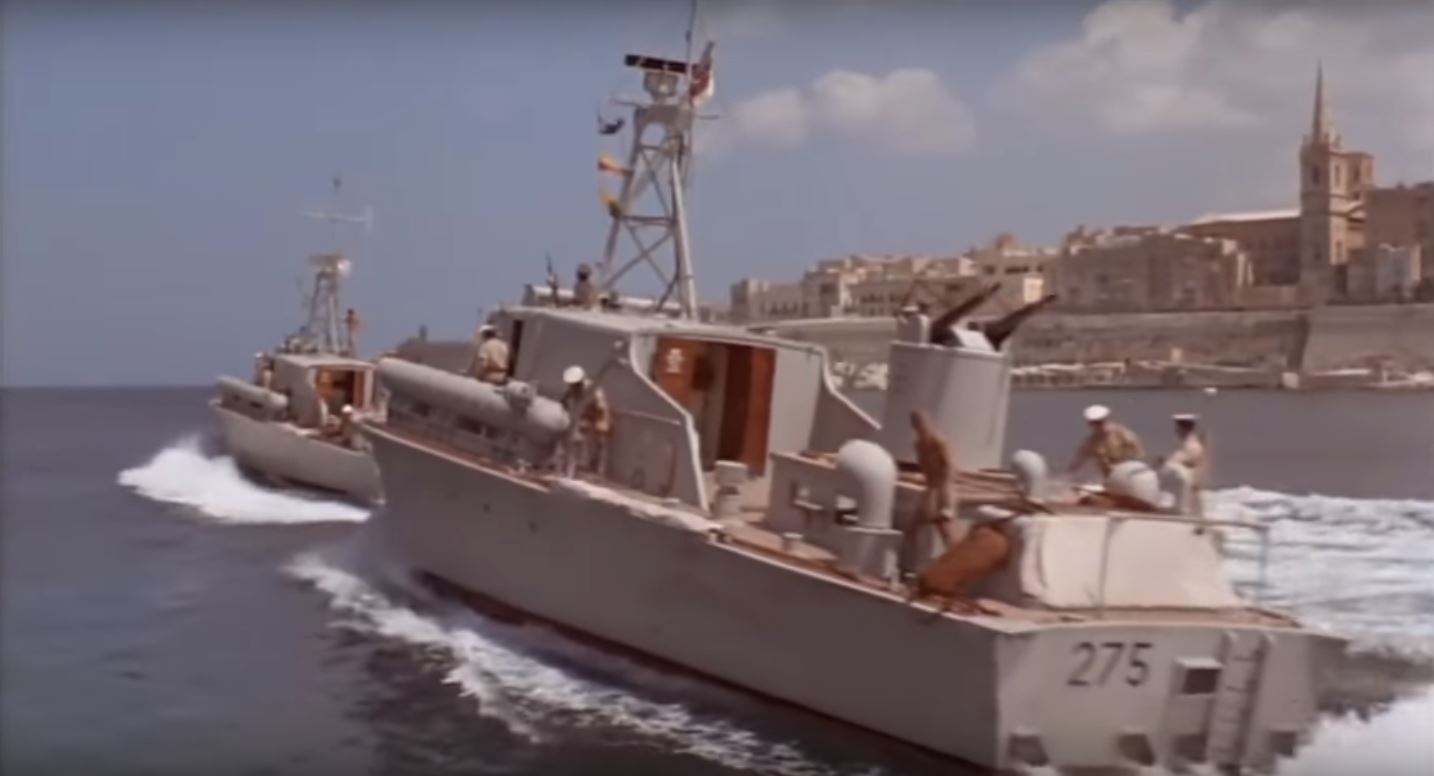 Two converted RAF RTTLs depart from Fort in the movie Hell boats